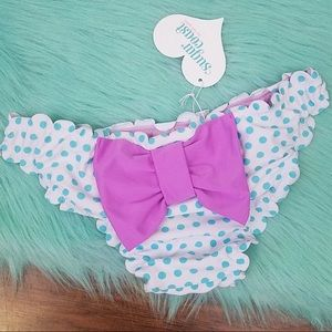Lolli Polka Dot Large Bow Swim Bottoms